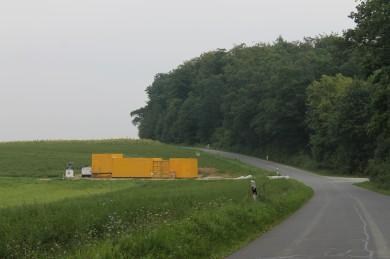 Bürocontainer wurden gestellt